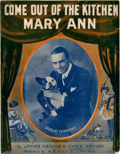 Sheet Music - Come out of the kitchen Mary Ann