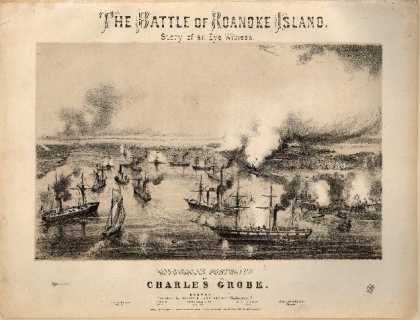 Sheet Music - The Battle of Roanoke Island; Op. 1395