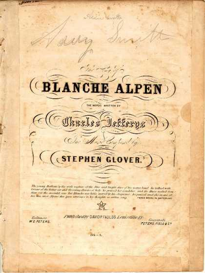 Sheet Music - Song of Blanche Alpen