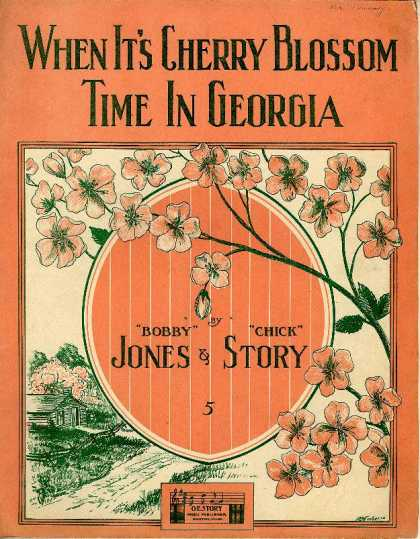 Sheet Music - When it's cherry blossom time in Georgia