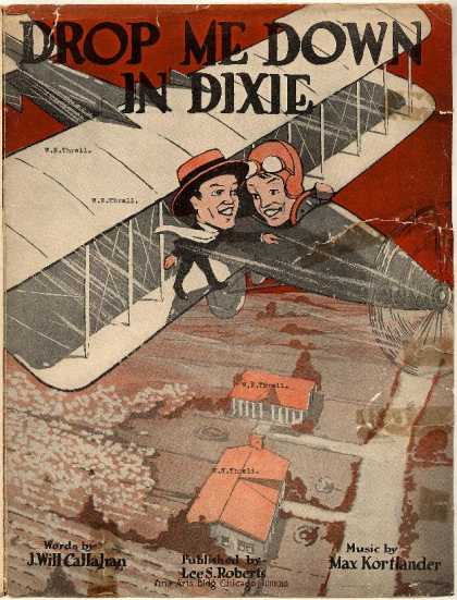Sheet Music - Drop me down in Dixie; Drop me down in Dixieland