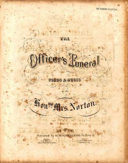 Sheet Music - The officer's funeral