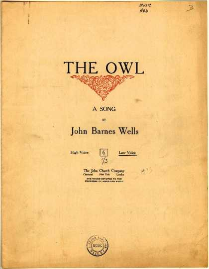 Sheet Music - The owl