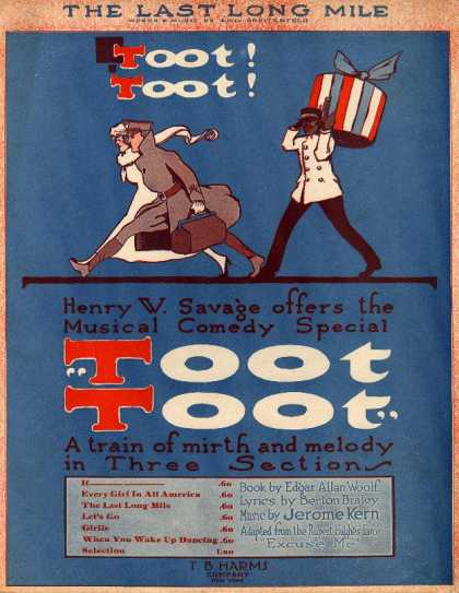 Sheet Music - The last long mile; Toot toot; Plattsburg marching song, 1917