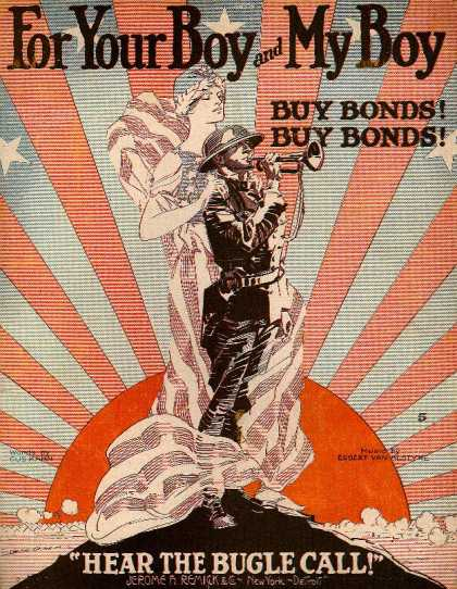 Sheet Music - For your boy and my boy; Buy bonds; Hear the bugle call