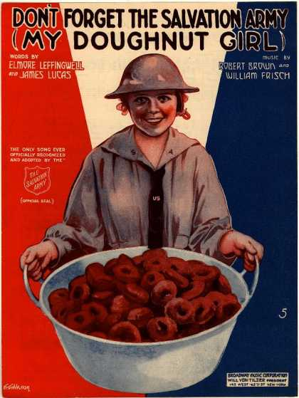 Sheet Music - Don't forget the Salvation Army; My doughnut girl