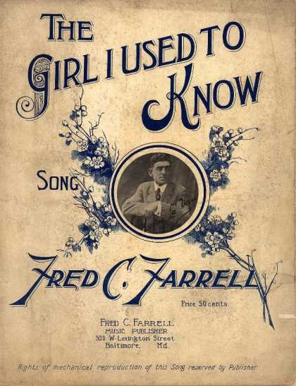 Sheet Music - The girl I used to know