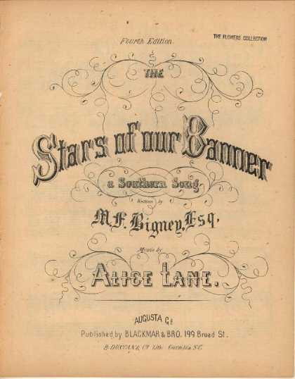 Sheet Music - The stafs of our banner; Southern song