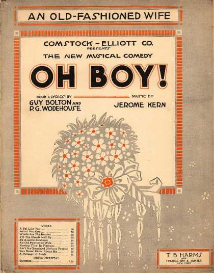 Sheet Music - An old fashioned wife; Oh boy!