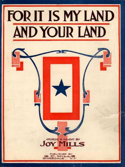 Sheet Music - For it is my land and your land