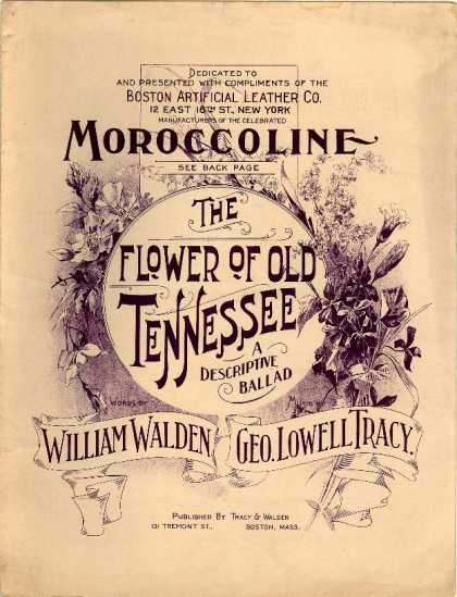Sheet Music - Flower of old Tennessee
