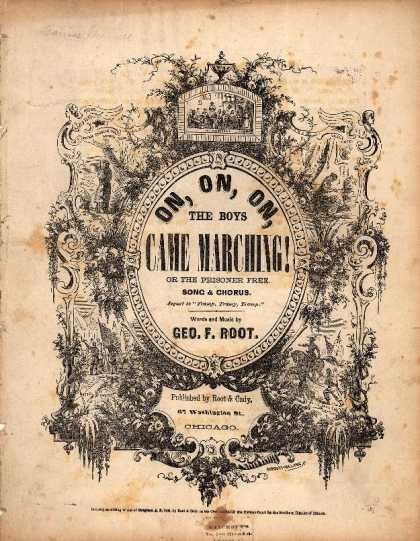 Sheet Music - Oh, on, on, the boys came marching; Prisoner free