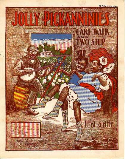 Sheet Music - Jolly pickanninies; Cake walk and two step