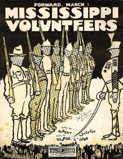 Sheet Music - Mississippi volunteers; Forward, march!