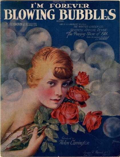 Sheet Music - I'm forever blowing bubbles; Passing show of 1918