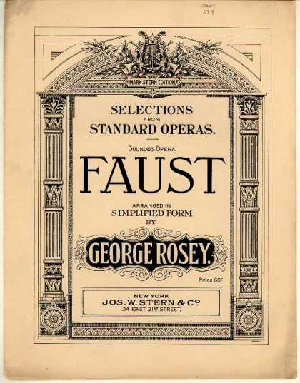 Sheet Music - Selection from the opera Faust