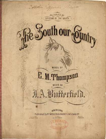 Sheet Music - The South our country