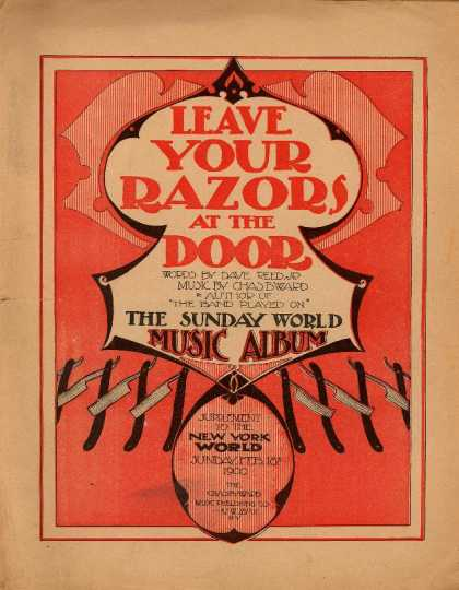 Sheet Music - Leave your razors at the door