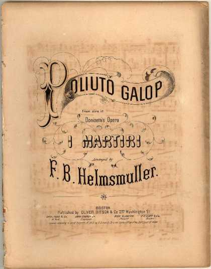 Sheet Music - Poliuto galop; Martiri