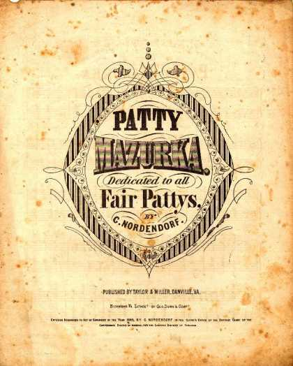 Sheet Music - Patty mazurka