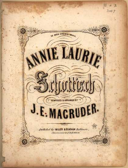 Sheet Music - Annie Laurie schottisch