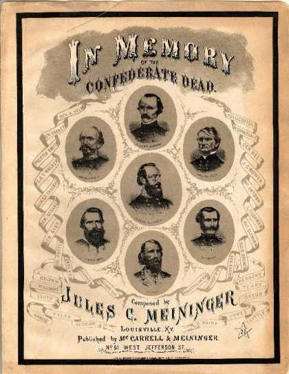 Sheet Music - Requiem; In memory of the confederate dead