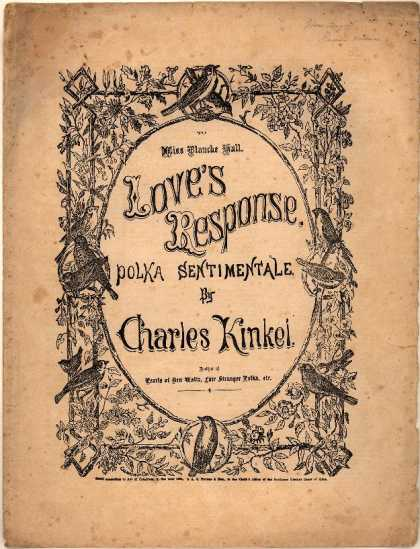 Sheet Music - Love's response; Polka sentimentale