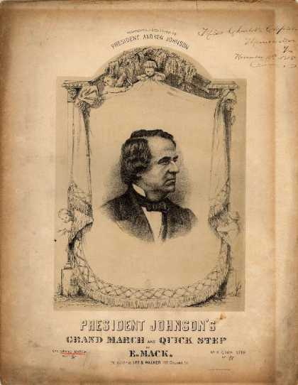 Sheet Music - President Johnson's grand march