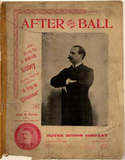 Sheet Music - After the ball