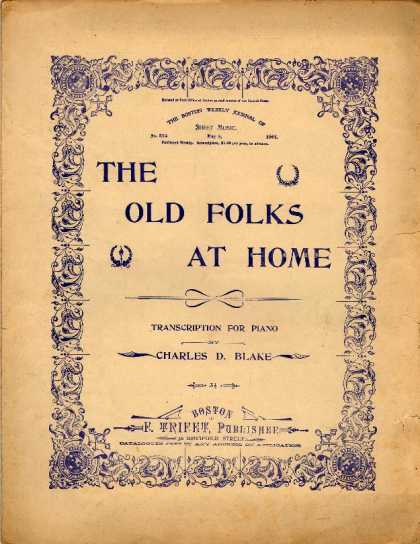 Sheet Music - The old folks at home
