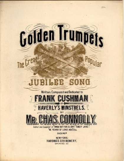 Sheet Music - Golden trumpets; The great popular jubilee song