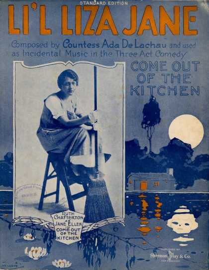 Sheet Music - Li'l Liza Jane; Come out of the kitchen; Southern dialect song
