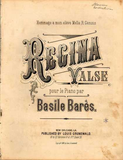 Sheet Music - Regina valse; Op. 29