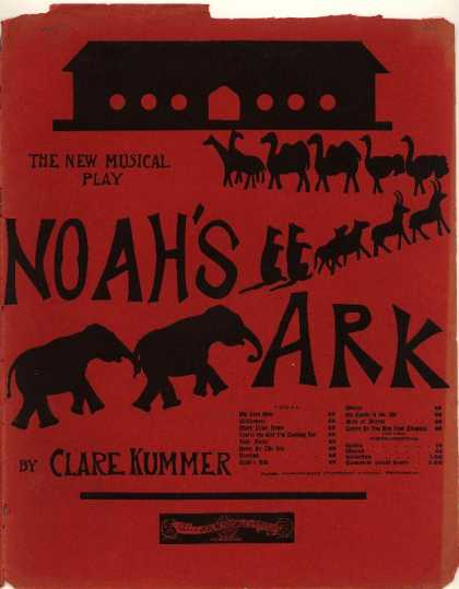 Sheet Music - My very own; Noah's ark