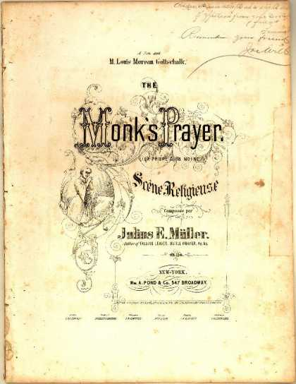 Sheet Music - Monk's prayer; Priere d'un moine
