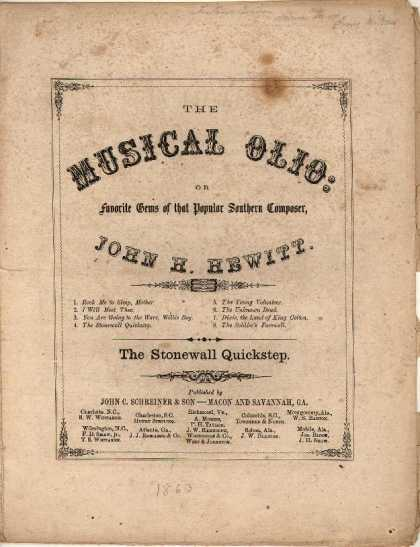 Sheet Music - Stonewall quickstep