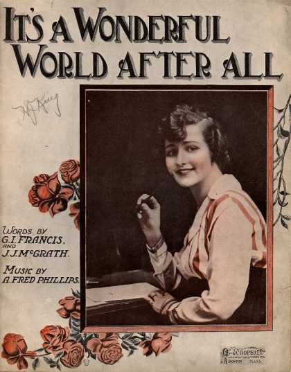 Sheet Music - It's a wonderful world after all
