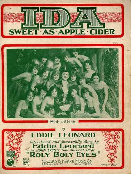 Sheet Music - Ida, sweet as apple cider; Roly boly eyes