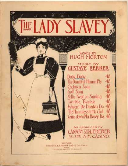 Sheet Music - Baby, baby; Lady slavey