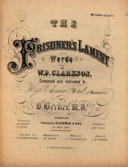 Sheet Music - The prisoner's lament