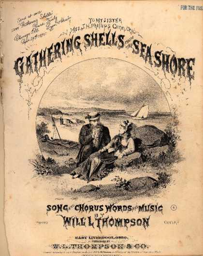 Sheet Music - Gathering shells from the sea shore