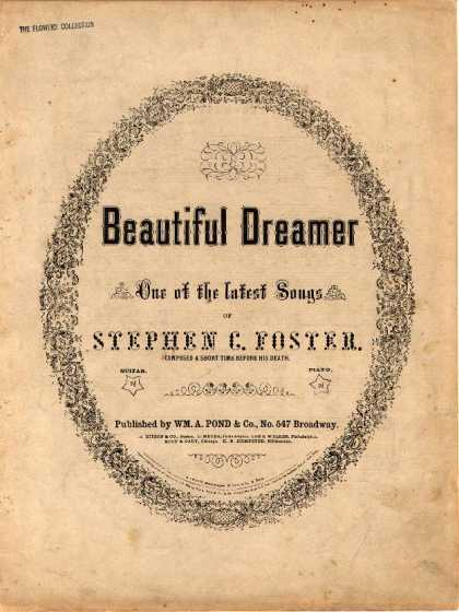Sheet Music - Beautiful dreamer; Serenade