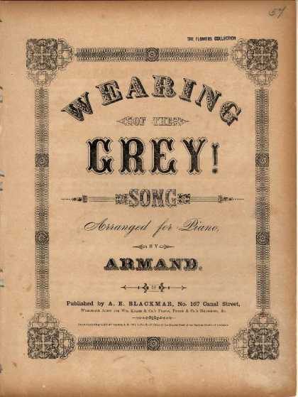 Sheet Music - Wearing of the grey!; Wearing of the green