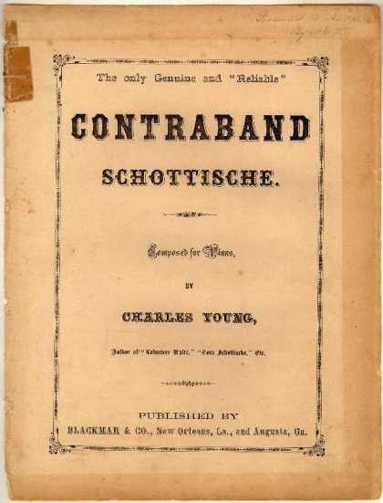 Sheet Music - Contraband schottische