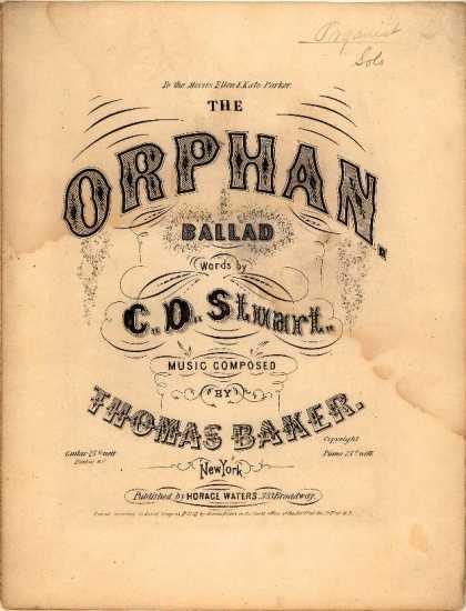 Sheet Music - Orphan; Ballad