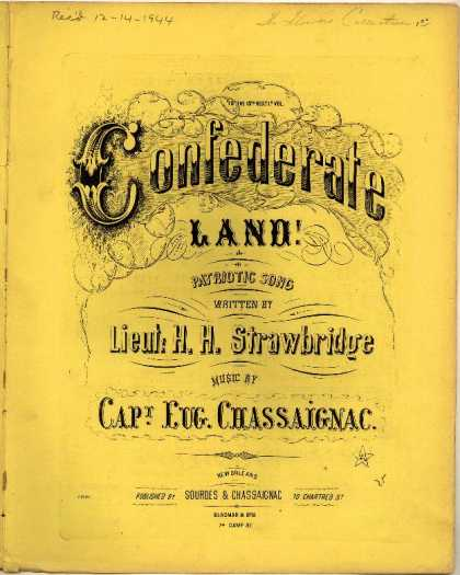 Sheet Music - Confederate land!