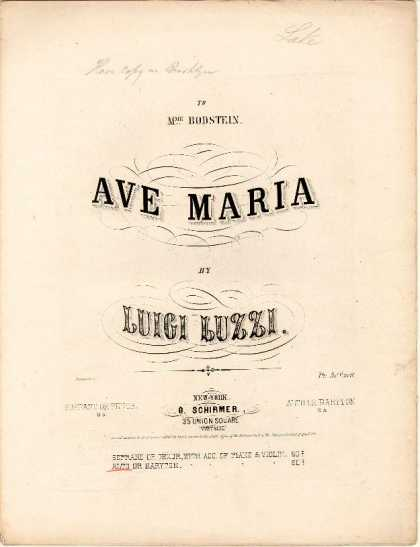 Sheet Music - Ave Maria; op. 80