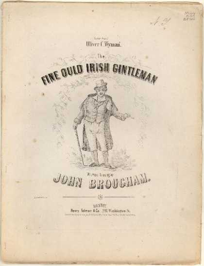 Sheet Music - The fine ould Irish gintleman; The fine old Dutch gentleman