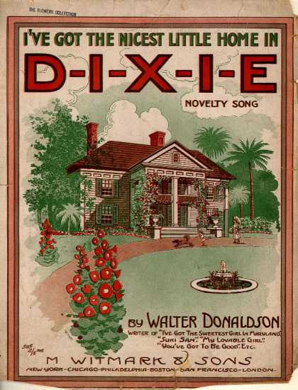 Sheet Music - I've got the nicest little home in Dixie