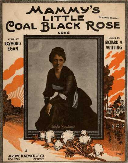 Sheet Music - Mammy's little coal black Rose